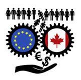 Vrees over CETA stock illustratie