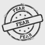 Vrees rubberdiezegel op witte achtergrond wordt geïsoleerd vector illustratie