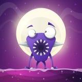 Vrees, verschrikking, de illustratie van het helbeeldverhaal De Vector van monsterdieren stock illustratie