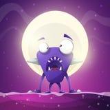 Vrees, verschrikking, hel, beeldverhaalillustratie Monsterdieren vector illustratie