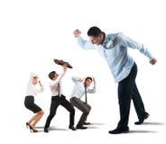 Vrees voor de werkgever stock afbeeldingen