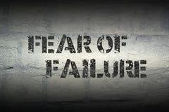 Vrees voor mislukking gr. stock illustratie