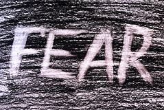 Vrees voor zwart-wit vector illustratie