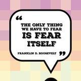 Vrees zelf stock illustratie