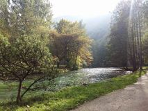 Vrelo Bosne. The source of the river Bosna Royalty Free Stock Photography