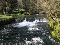 Vrelo Bosne. The spring of Bosna river stock image