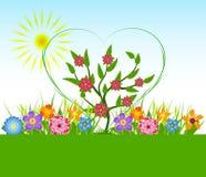 Våren blommar vektorillustrationen Arkivfoto