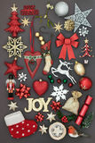 Vreugde bij Kerstmis Stock Fotografie