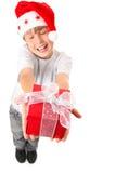 Vreugde om de Gift van Kerstmis Te geven Royalty-vrije Stock Fotografie