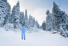 Vreugde om te skien Stock Fotografie