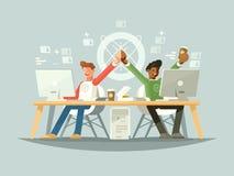 Vreugde van collega's stock illustratie