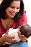Vreugde van moederschap stock fotografie