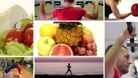 Vreugde, vitaminen, geschiktheid, schoonheid stock footage
