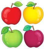 Vária coleção 2 das maçãs Foto de Stock