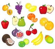 Vária parte 1 das frutas Fotografia de Stock