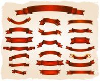 Várias bandeiras e série dos rolos Imagem de Stock