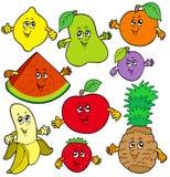 Várias frutas dos desenhos animados Foto de Stock Royalty Free