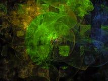 Vriden digital framtida modell för abstrakt utsmyckad idé Arkivbilder