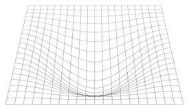 Vridet raster i perspektiv ingrepp 3d med konvex distorsion royaltyfri illustrationer