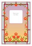 Vridna blommor på staketet eller ramen Royaltyfri Bild