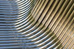Vridna kromrør Arkivfoton