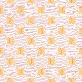 Vridna linjer i formen av en boll vektor illustrationer