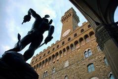 Vriend. Vecchio, Florence, Italië stock afbeeldingen