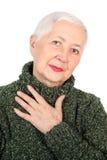 Vriendelijke Hogere Dame Portrait Royalty-vrije Stock Foto's