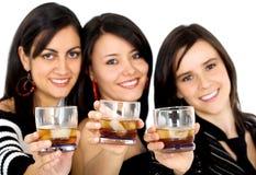 Vrienden bij een partij Stock Afbeelding