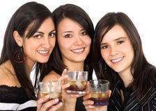 Vrienden bij een partij Stock Fotografie