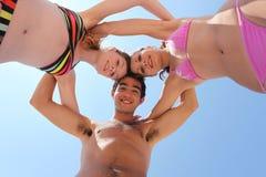 3 vrienden bij het strand Royalty-vrije Stock Foto