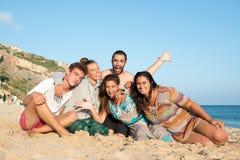 Vrienden in de zomer Royalty-vrije Stock Afbeelding