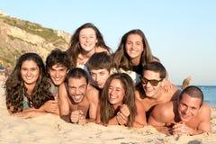 Vrienden in de Zomertijd Stock Foto