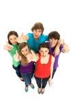 Vrienden die handen golven Stock Afbeelding