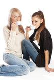 Vrienden die koffie hebben Royalty-vrije Stock Foto's