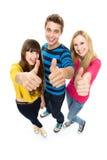 Vrienden met omhoog duimen Royalty-vrije Stock Fotografie
