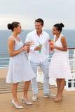 Vrienden op cruise Stock Foto