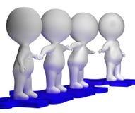 Vrienden Toetredende Groep die Vriendschap tonen Stock Afbeelding