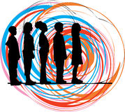 Vrienden. Vector illustratie Stock Fotografie