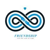 Vrienden voor altijd, eeuwig vriendschaps conceptueel vectorsymbool vector illustratie
