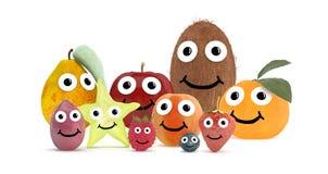 Vriendenfruit met gezicht Stock Afbeelding
