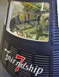 Vriendschap 7 van NASA Ruimtevaartuig-- John H. Glenn stock foto