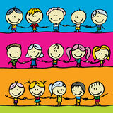 Vriendschap en vrede vector illustratie