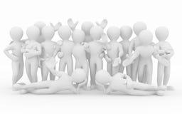 Vriendschap. Groepswerk. Groep mensen. royalty-vrije illustratie