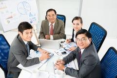 Vriendschappelijk commercieel team Royalty-vrije Stock Foto
