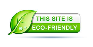 Vriendschappelijk de websitepictogram van Eco Stock Foto's