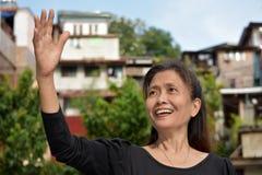 Vriendschappelijk Filipina Grandma royalty-vrije stock foto's