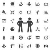 Vriendschappelijk handdrukpictogram vector illustratie
