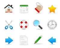 Vriendschappelijk pictogram set1 Royalty-vrije Stock Foto