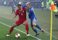 Vriendschappelijk spel de Oekraïne v Servië in Kharkiv Royalty-vrije Stock Fotografie